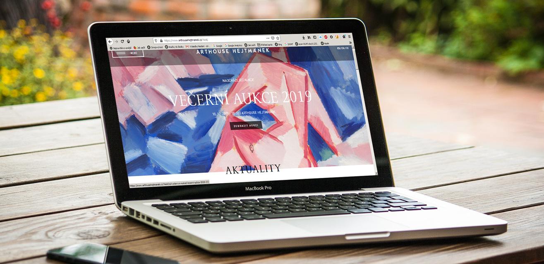 Der neue Internetauftritt von Arthouse Hejtmánek startet in Kürze.