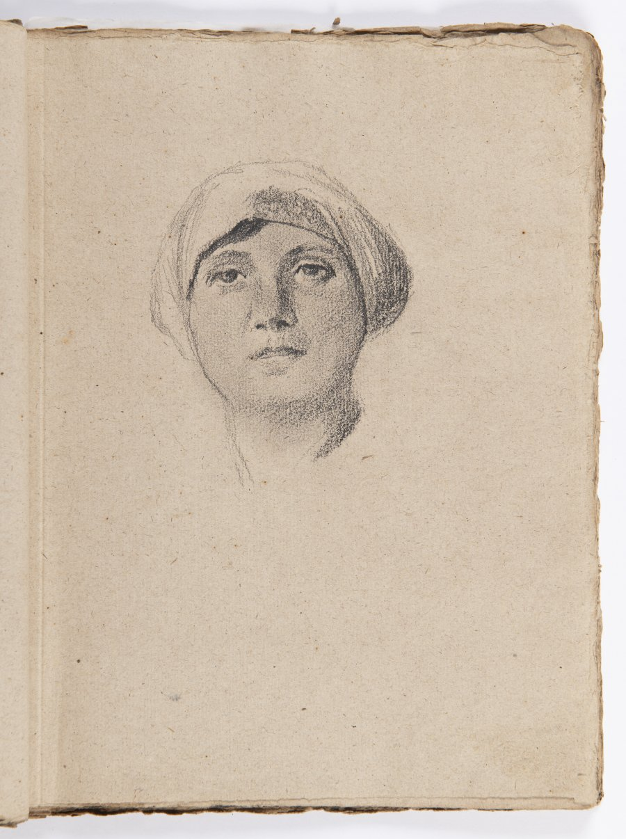 SKETCHBOOK OF DRAWINGS - STUDY OF PORTRAITS
