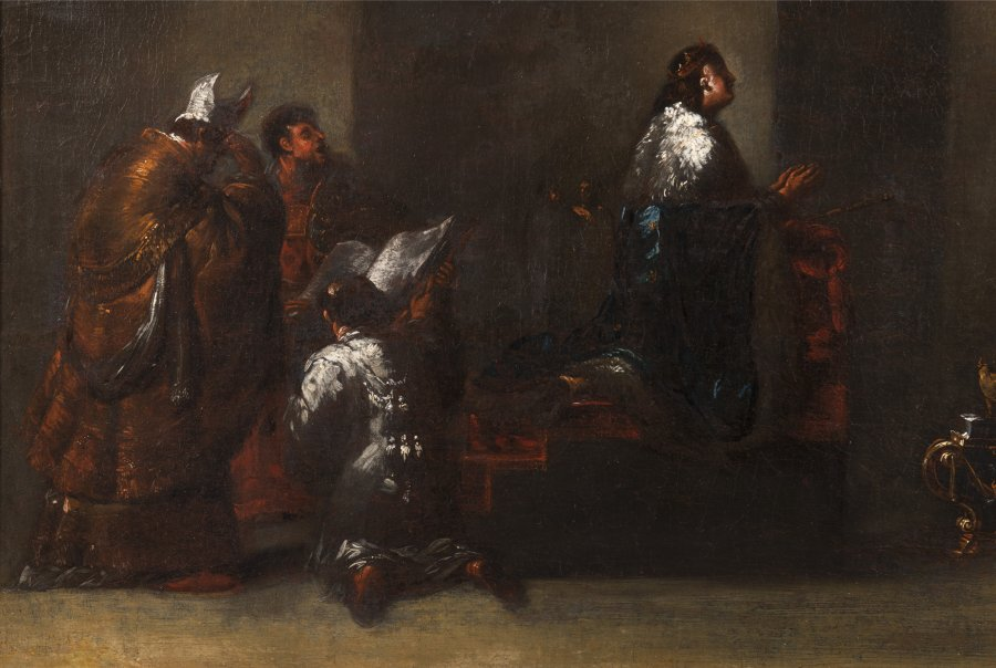 PAIRED PAINTINGS - QUEEN OF SHEBA