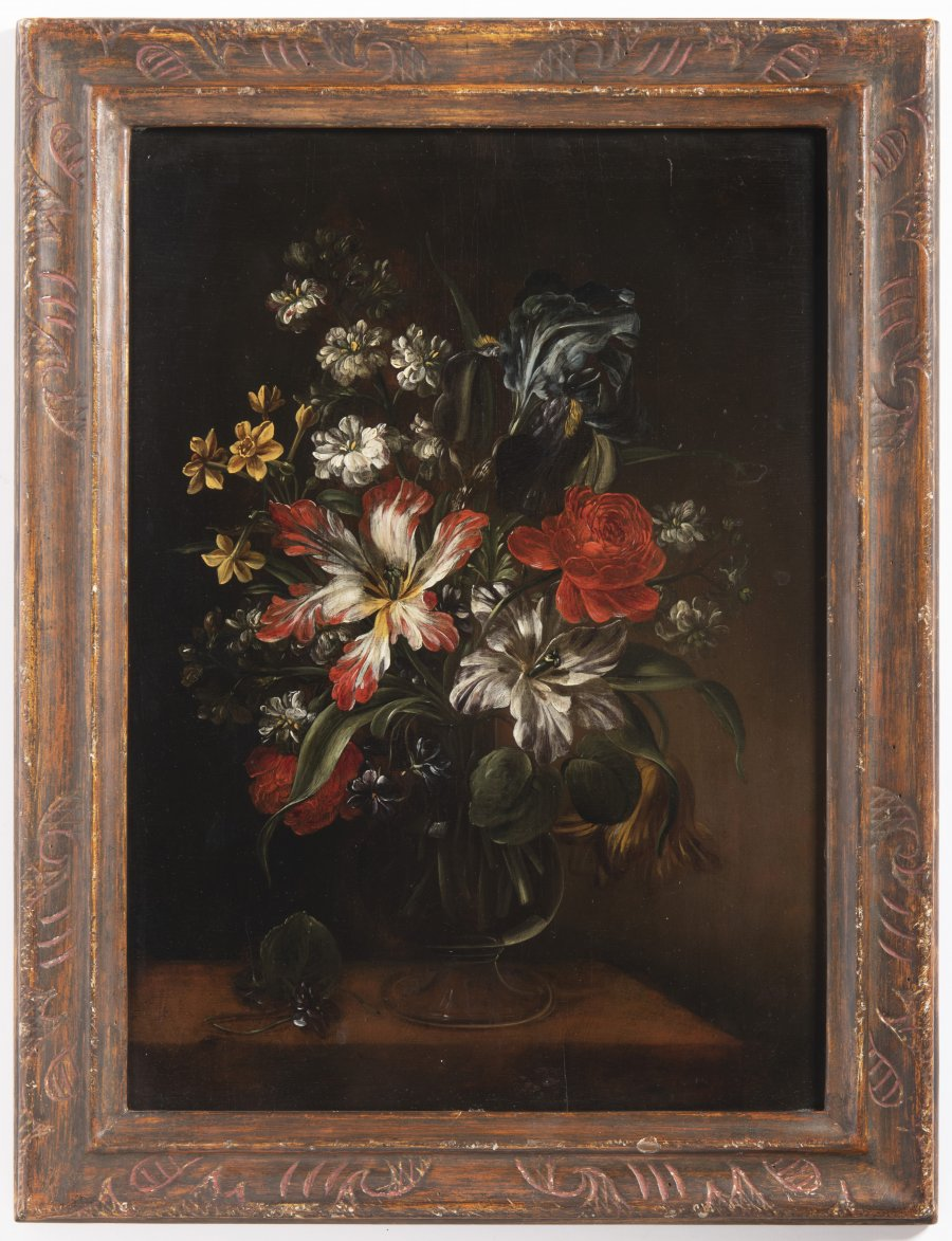 PAIRED FLORAL STILL LIFES