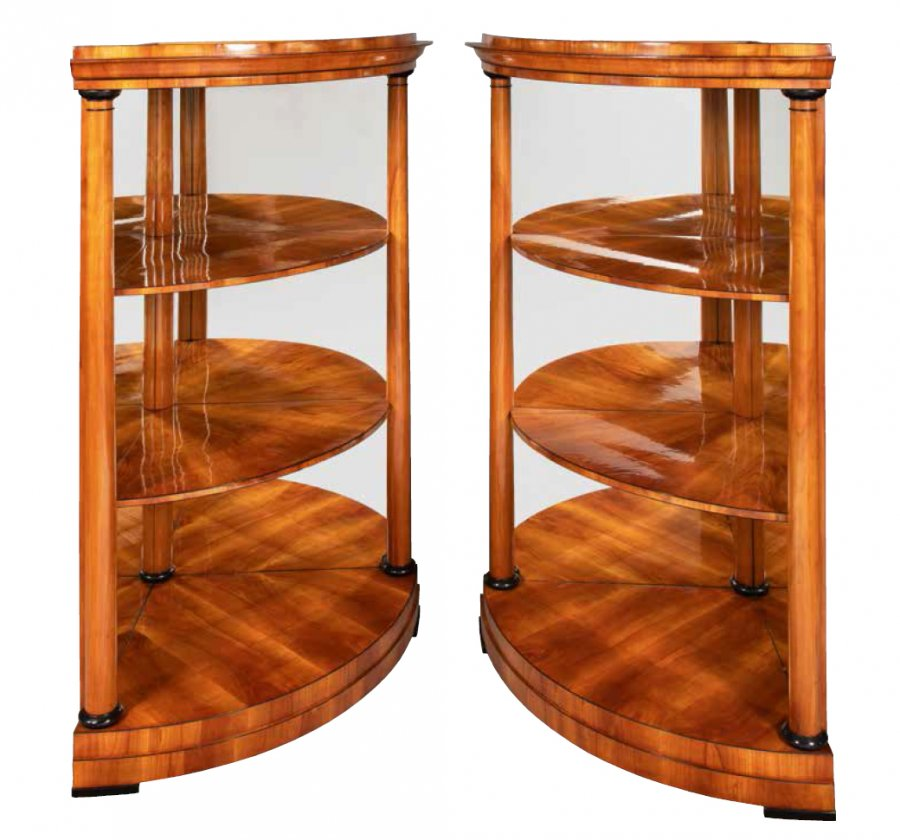 A PAIR OF BIEDERMEIER ETAGERES