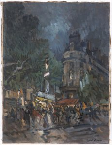 PAŘÍŽSKÝ BULVÁR V NOCI