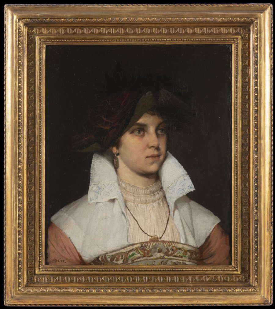 PORTRAIT OF A LADY IN PERIOD DRESS