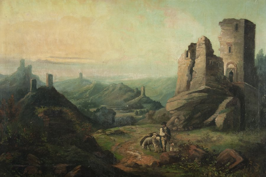 SHEPHERD BY THE RUINS