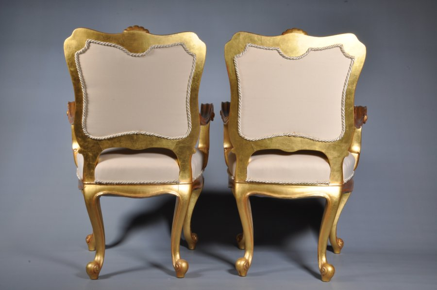 PAIRED NEO-BAROQUE CHAIRS