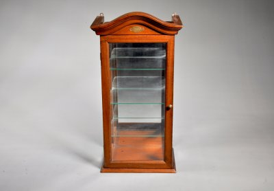 DISPLAY CABINET WITH LABEL