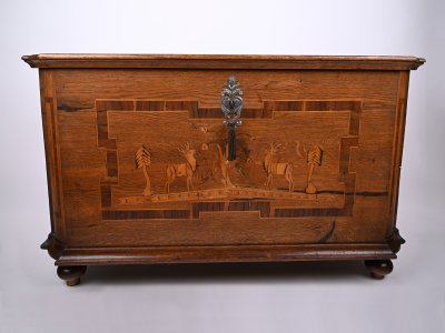 MARQUETRY WOODEN CHEST