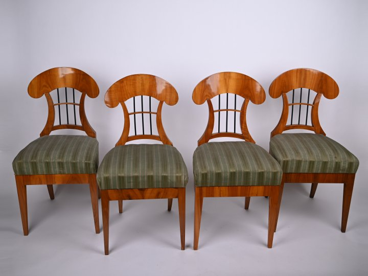 FOUR BIEDERMEIER CHAIRS