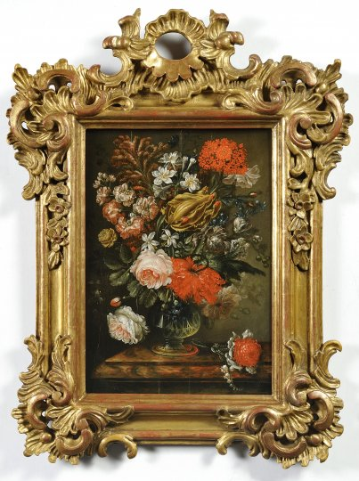 TWO FLORAL STILL LIFES
