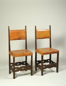 TWO WALNUT CHAIRS