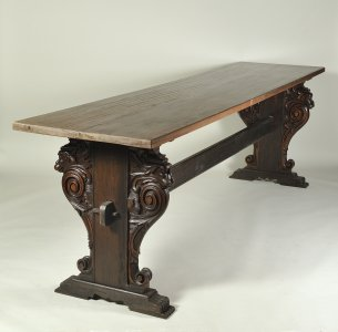 A SECOND RENAISSANCE-STYLE WALNUT DINING TABLE