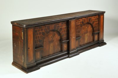AN INLAID CHEST