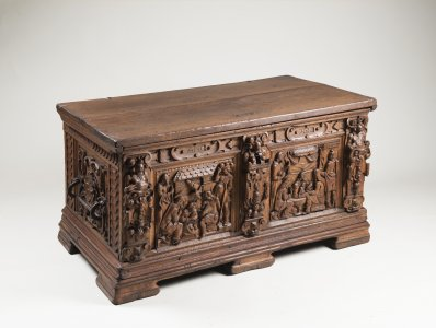 A CARVED BAROQUE CHEST