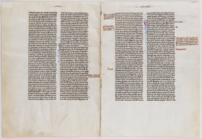 MEDIEVAL MANUSCRIPT IN LATIN ON PARCHMENT