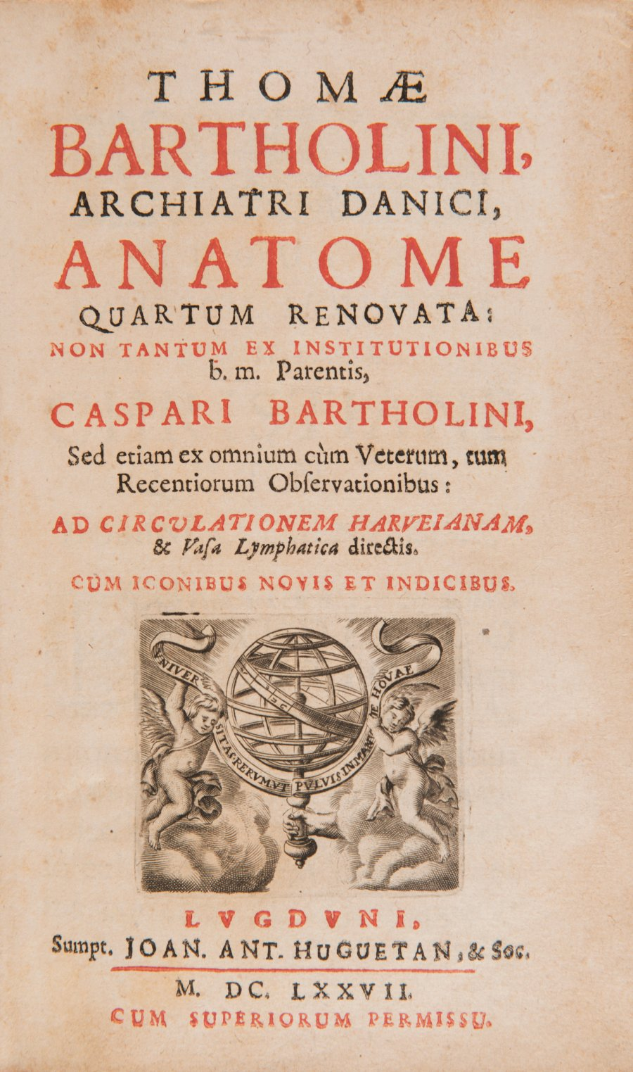 ANATOME QUARTUM RENOVATA (Anatomy, 4th Edition)