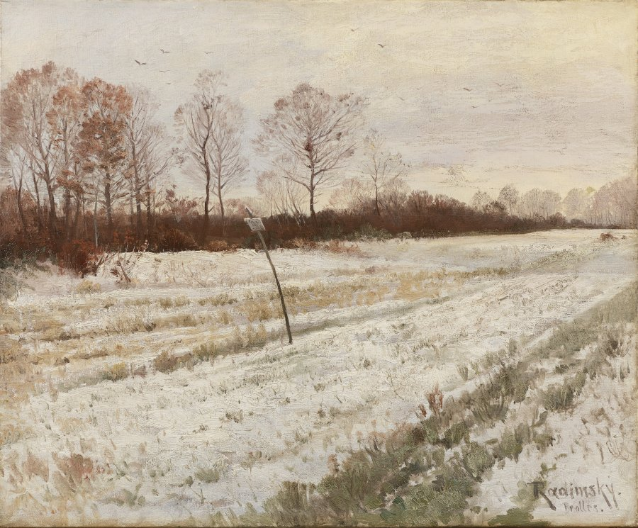 WINTERLANDSCHAFT IN BROLLES