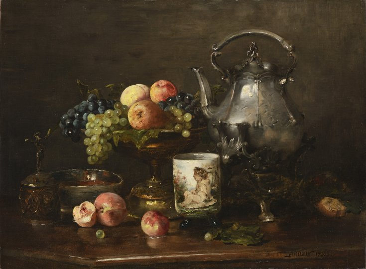 STILL LIFE WITH FRUIT AND A KETTLE