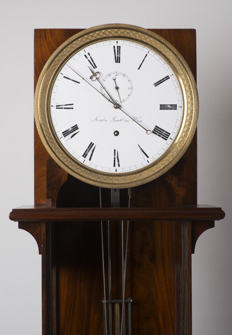 A LANTERN GRANDFATHER CLOCK - MARTIN ZARTL