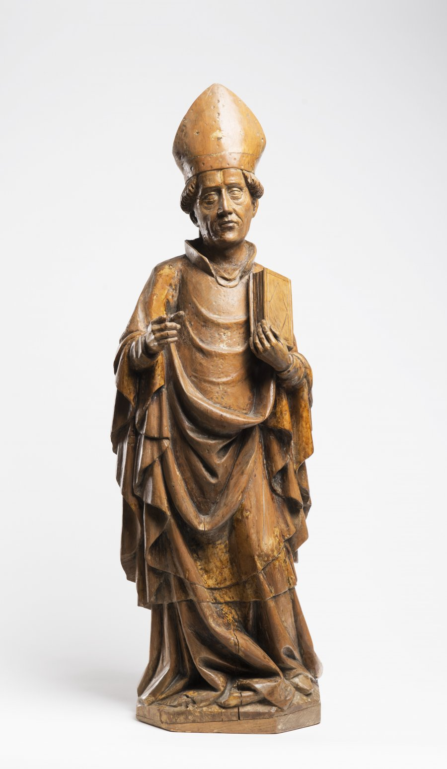 A Late Gothic Statue of a Bishop