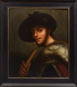 A PORTRAIT OF A YOUNG MAN WITH A PIPE