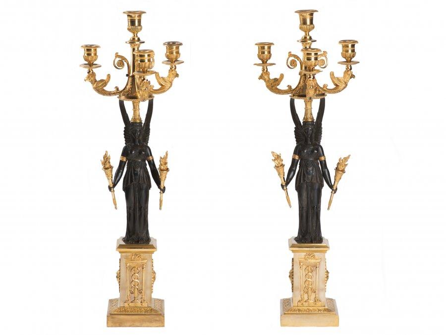 empírové párové svícny