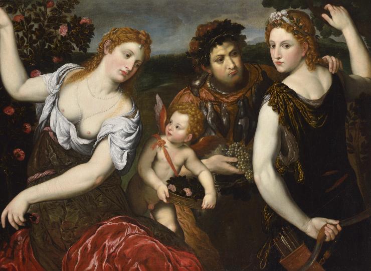 VENUS, CUPID, BACCHUS AND DIANA